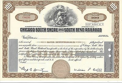 Chicago South Shore And South Bend Railroad...unissued Stock Certificate