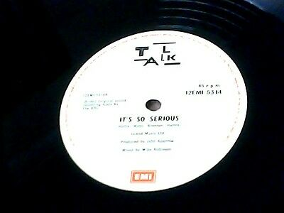"Talk Talk-12"" 45-Today/its So Serious.emi 5314."