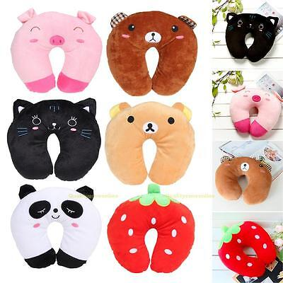 Multi-Color Cartoon Animal U Shaped Travel Pillow Neck Support Head Rest Cushion