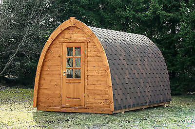 CAMPING POD Garden Home Office Summer House Room Log Cabin Glamping 4m - 5.5m !