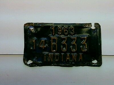 1963 Indiana license tag, #14B333, 16.7gr