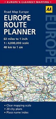 Europe Route Planner by AA Publishing New Sheet map  folded Book