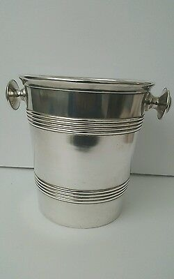 Wiskemann silver plated wine cooler ice bucket art Deco vintage