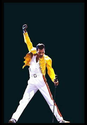 Freddie Mercury Yellow Jacket  METAL TIN SIGN POSTER WALL PLAQUE