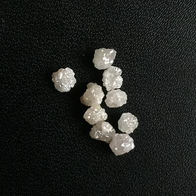 Collectable 2.01 Carats 100% Natural Silver/White/Grey Rough Diamond Lot 3-4 MM