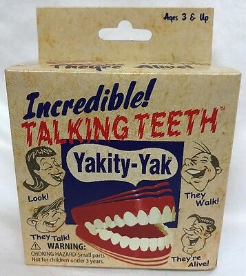 New YAKITY-YAK TALKING TEETH WIND UP TOY ORIGINAL BOX - Patch Products 2010
