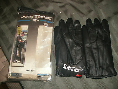 New Hatch Tld40 Black Leather Dress Gloves 3M Thinsulate Size Xx-Large Free Ship