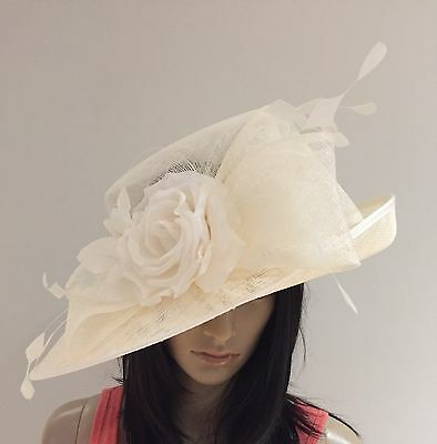NIGEL RAYMENT IVORY WEDDING ASCOT Hat FORMAL Occasion MOTHER OF THE BRIDE