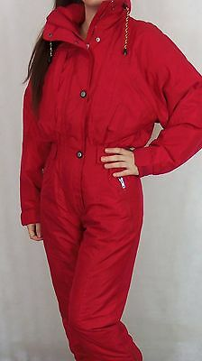 Vintage 80's 90's Womens Tenson All In One Ski Suit Small