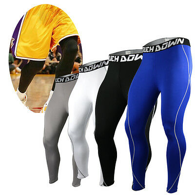 Men's Touch Down Mens COMPRESSION Under Pants Fitness Jogging Sport Leggings