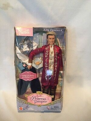 B19) Vtg Mattel Barbie Doll Ken Princess The Pauper King Dominick Julian Outfit