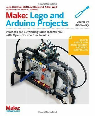 Make: LEGO and Arduino Projects by John Baichtal New Paperback Book