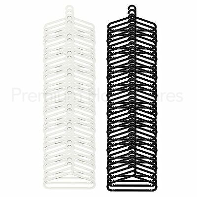 36 x IKEA BAGIS Plastic Coat Hangers - Black or White