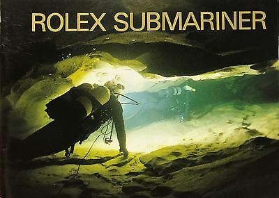 Rolex Submariner Booklet, Various Years Available