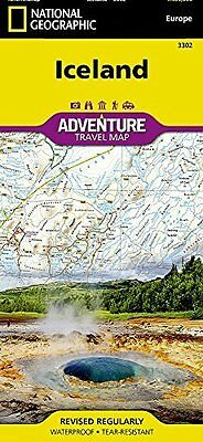 Iceland by National Geographic Maps New Sheet map  folded Book