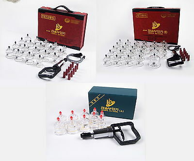Hansol Cupping SET 10 19 30 Cups Acupressure Massage Acupuncture Therapy Korea