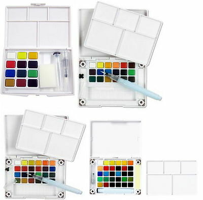Koi Watercolor Paint 12 - 30 Colors Set With Brush Sketch Drawing Painting vee