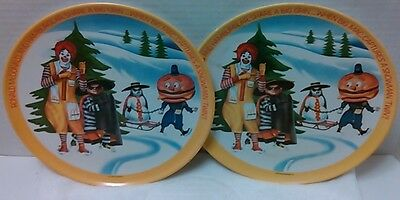 McDonald's Melamine Dinner Plates Vintage 1977 Collectible Plates