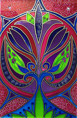 Art nouvea Stained Glass style panels Hand painted and ready to hang Splashbacks