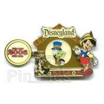 FEATURED ARTIST COLLECTION 2006 FIGARO PINOCCHIO JIMINY LE DISNEY Pin 48184