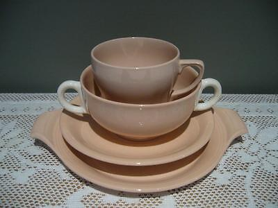 Grindley Vintage 'rose Leaf' Tennis Duo & Soup Coupe & Plate - England - Odd Cup