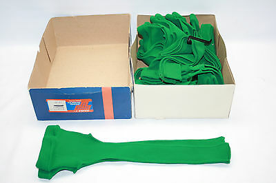 "New Old Stock Vintage Double T 15"" Stirrup Baseball Socks 11 Pair Kelly Green"