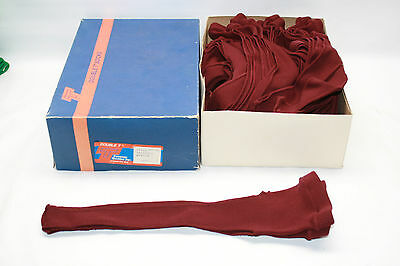 "New Old Stock Vintage Double T 15"" Stirrup Baseball Socks 13 Pair Maroon"