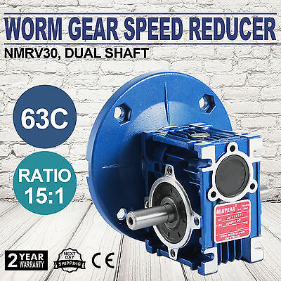 NMRV030 15:1 56c Speed Reducer Double Out Shaft Valid Pop Safe STRICTLY STANDARD