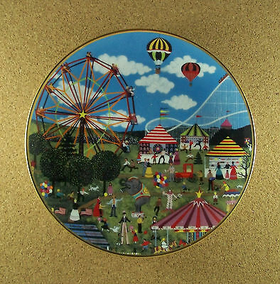 COUNTRY CARNIVAL Plate Jane Wooster Scott American Folk Art Collection Balloon