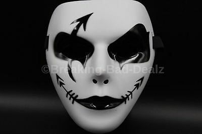 Cosplay Mask  Fancy Creepy Halloween Ghost Costume Theater Black and white