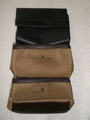 Airline Toiletry Bags - No Contents - 2 Qatar Airways - 1 Cathay Pacific