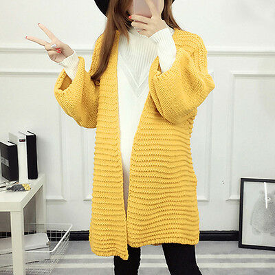 New Pregnant Women Sweater Maternity Open Front Cardigan Loose Split Knit Tops