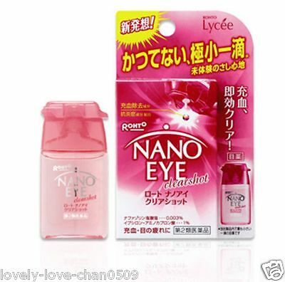 Rohto NANO EYE Clear Shot Eye Drops Medicated 6ml Japan