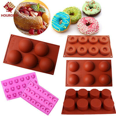 Silicone Cake Donut Soap Baking Mold Pan Candy Chocolate Cookie Cupcake Mould
