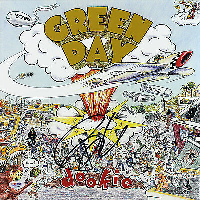Billie Joe Armstrong Green Day Signed Dookie Album Cover W/ Vinyl PSA #AC63066