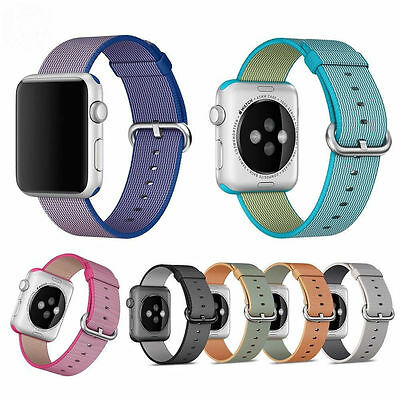 Nylon Sports Royal Woven Release Wrist Strap Band for Apple Watch Series 1/2 AU