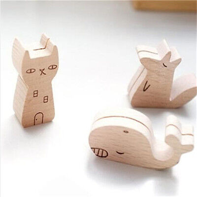Wood Adorable Animal Message Holder Memo Holder Clip Picture Table Decor