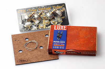 "LP Wiring Kit fits Gibson® Luxe Women Tone Caps/CTS ""TVT"" Shortshaft Pots"