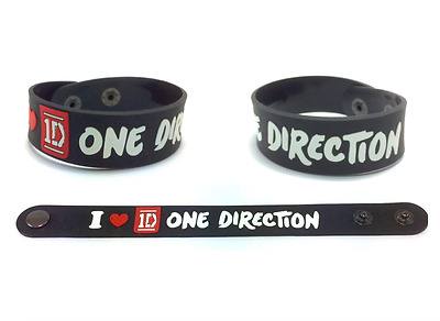 'I Love 1D' - One Direction Bracelet Rubber Wristband Collectible Gift Music Fan