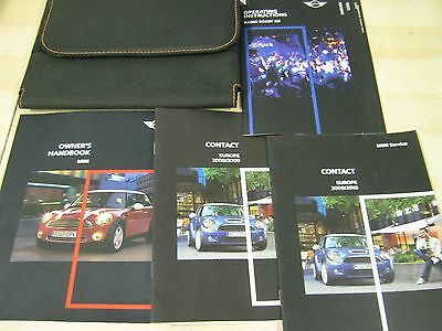 BMW MINI OWNERS MANUAL HANDBOOK  2006-2010 INC AUDIO and wallet