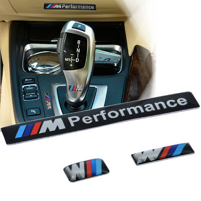 1set 3D Aluminum ///M performance Car Emblem Badge Sticker Decal for BMW