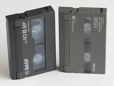 2 Stk. 8mm Videokasette. 2 pcs. 8 mm video cassette.