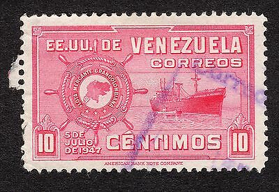 1948 Venezuela 10c ist Anniv of Greater Colombia Merchan SG 782 GOOD USED R20191