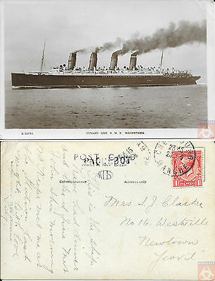 Angleterre - PAQUEBOT - MAURETANIA - Posted at Sea 1931 - Cherbourg