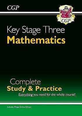 New KS3 Maths Complete Study & Practice Matchs Only CGP New Paperback Book