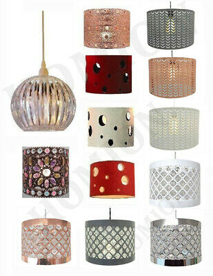 Easy Fit Sparkly Ceiling Pendant Light Shade Fitting Modern Decoration Lights