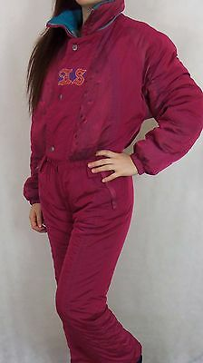 Vintage 80's 90's Womens All In One Ski Suit Small Made In Italy