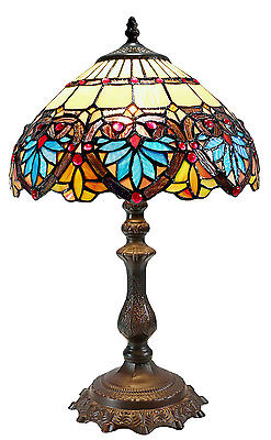 New Arrivals @12'' Stunning Boheme Tiffany Leadlight Stained Glass Bedside Lamp