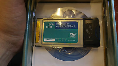 3Com 3CRWE154G72 OfficeConnect PCMCIA Notebook Wireless 11g PC Card