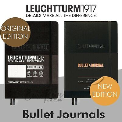Leuchtturm1917 Medium A5 Hardback Notebook - Bullet Journal - Choose Colour